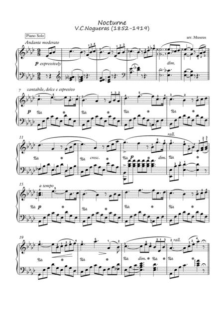 Nocturne by V.C. Nogueras piano solo