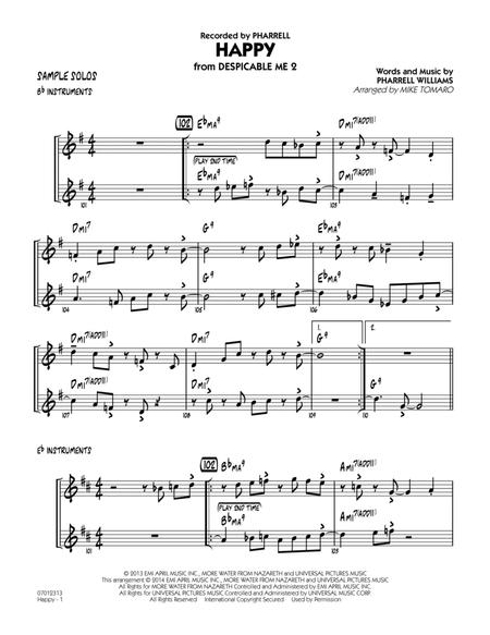 Happy (from Despicable Me 2) - Sample Solos