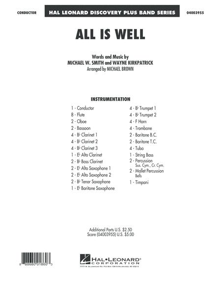 All Is Well - Conductor Score (Full Score)