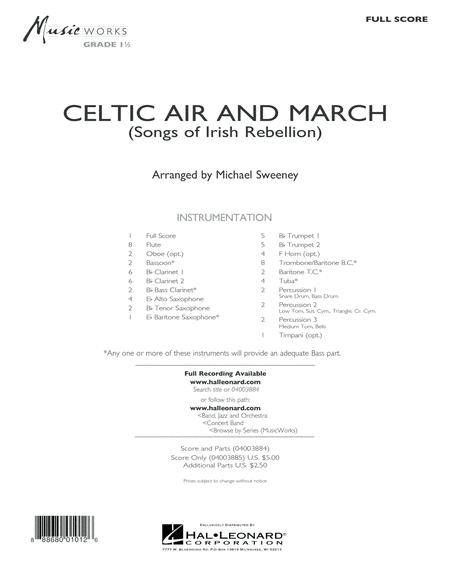 Celtic Air and March (Songs of Irish Rebellion) - Conductor Score (Full Score)