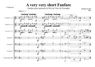 A very very short Fanfare, for brass - score and parts