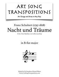Nacht und Träume, D. 827 (B-flat major)