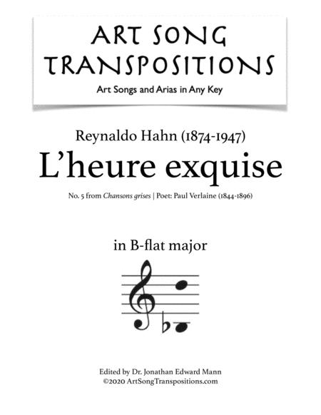 L'heure exquise (B-flat major)