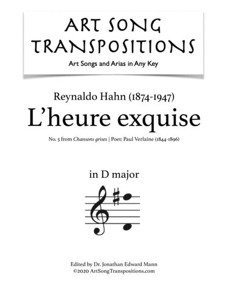 L'heure exquise (D major)