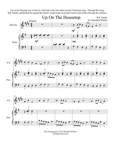 Christmas Duets for Alto Saxophone & Piano:  Up On The Housetop