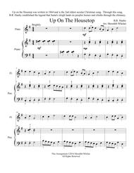 Download Christmas Duets For Flute & Piano: Up On The Housetop Sheet