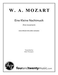 Eine Kleine Nachtmusik, first movement - for three flutes & piano