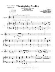 THANKSGIVING MEDLEY (Alto Sax/Piano with Alto Sax Part)