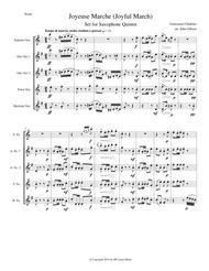 Joyful March set for saxophone quintet (Chabrier - Joyeuse Marche)
