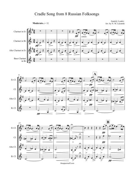 8 Russian Folksongs Cradle Song