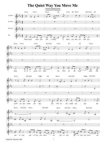 Download The Quiet Way You Move Me For Alto Chorus And Guitar Chord