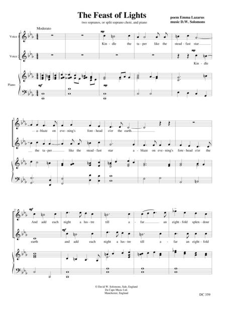 The Feast of Lights - A Channukah song for female choir and piano