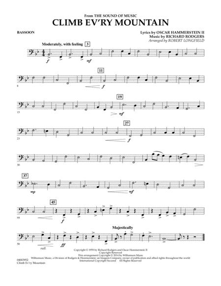 Climb Ev'ry Mountain (from The Sound of Music) - Bassoon