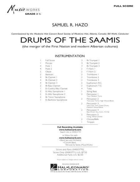 Drums of the Saamis - Conductor Score (Full Score)