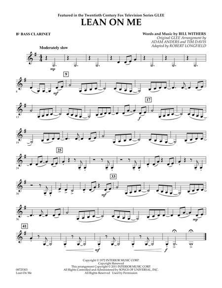 Lean On Me - Bb Bass Clarinet