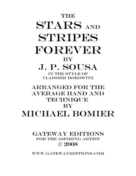 The Stars and Stripes Forever March, in the Style of Vladimir Horowitz