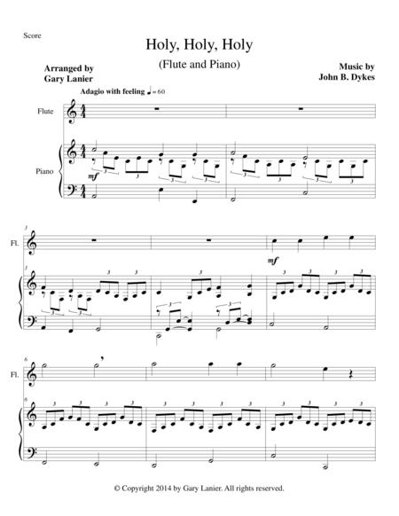 HOLY, HOLY, HOLY (Flute Piano and Flute Part)
