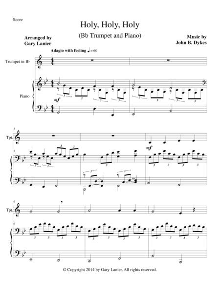 HOLY, HOLY, HOLY (Bb Trumpet Piano and Trumpet Part)
