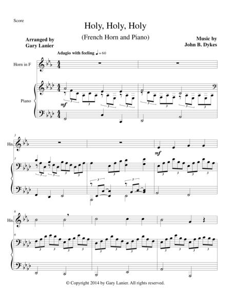 HOLY, HOLY, HOLY (French Horn Piano and Horn Part)
