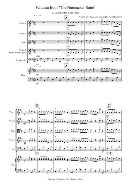 Dance of the Reed Pipes (Fantasia from Nutcracker) for String Quartet