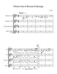 8 Russian Folksongs Plainte