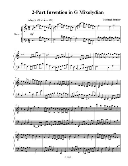 Invention in G Mixolydian from 9 Modal Inventions