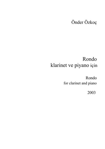 Rondo for Clarinet and Piano