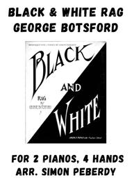 Black and White Rag, by Botsford, arranged for 2 pianos by Simon Peberdy