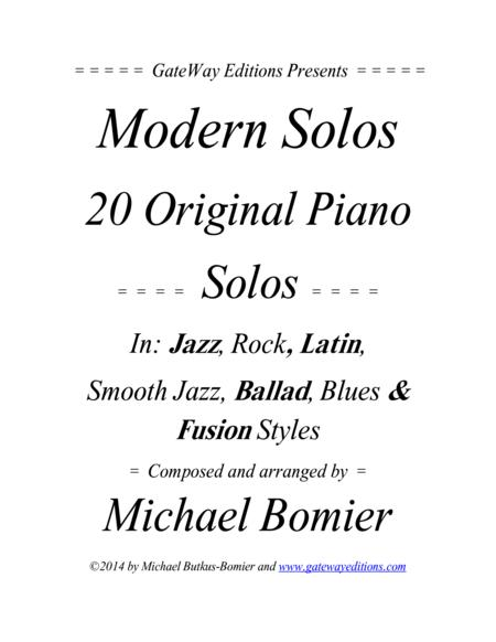 Modern Solos for the Piano, Jazz, Rock, Latin, Smooth Jazz, and Blues Music