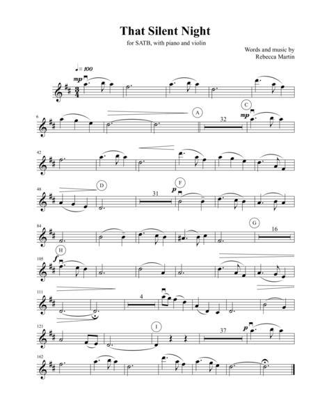 That Silent Night - violin obbligato part