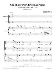 On That First Christmas Night (for duet or 2-part choir, SA)