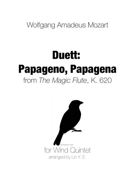 Mozart - Duett Papageno, Papagena - for Wind Quintet (arr. Lin Y. E.)
