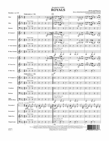 Royals - Conductor Score (Full Score)