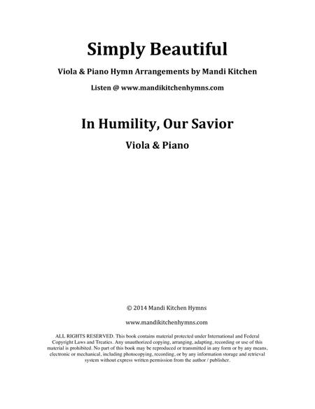 In Humility, Our Savior Viola & Piano Duet