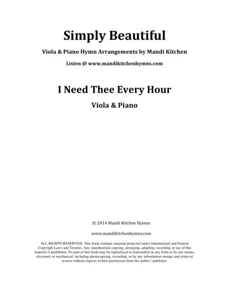 I Need Thee Every Hour Viola & Piano Duet