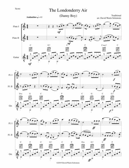 Download The Londonderry Air (Oh Danny Boy) For 2 Flutes And Guitar ...