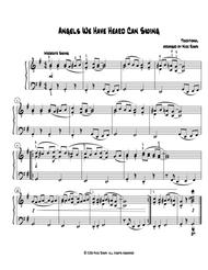 Angels We Have Heard Can Swing (early intermediate piano)
