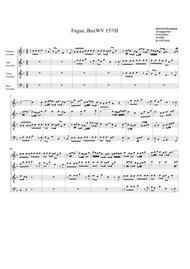 Fugue BuxWV 157/II (arrangement for 4 recorders)