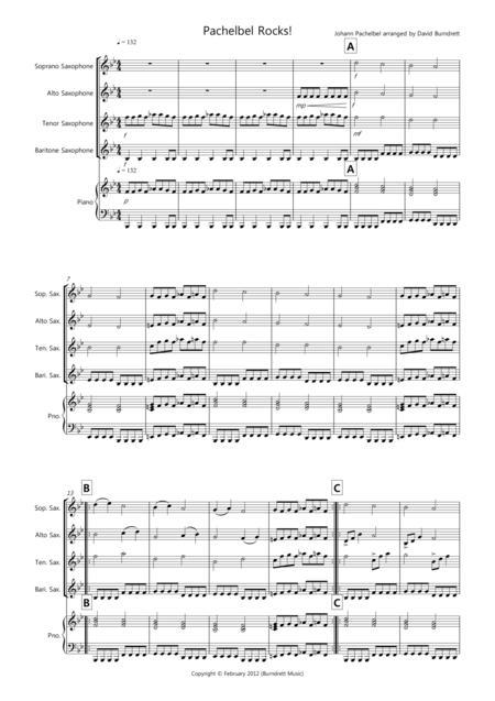 Pachelbel Rocks! for Saxophone Quartet