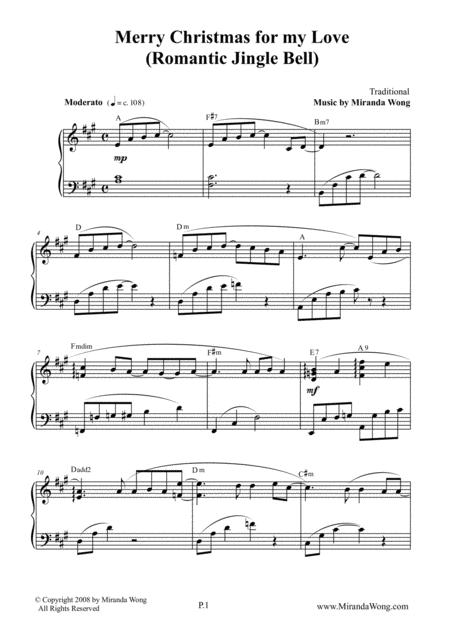 Merry Christmas for my Love (Romantic Jingle Bells) - Piano Solo in A Major