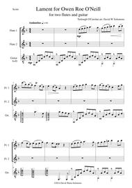 Lament for Owen Roe O'Neill for 2 flutes and guitar
