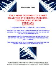 THE 4 MOST COMMON 7TH CHORD QUALITIES IN ONE EASY EXERCISE THE 48 CHORD SYSTEM FOR PIANO