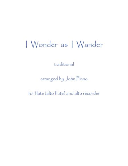 I Wonder as I Wander (flute [alto flute] and alto recorder)