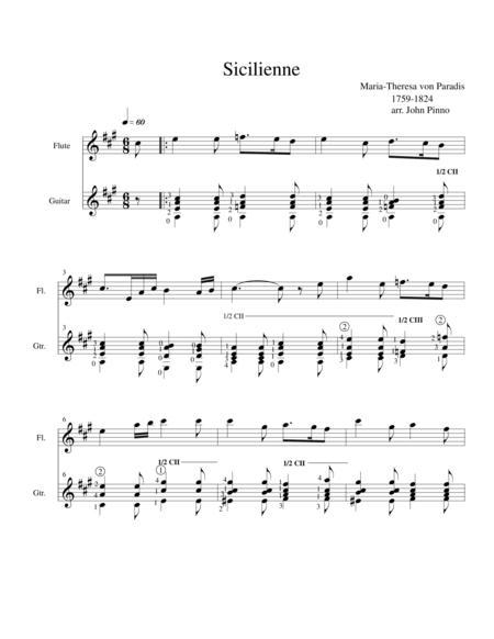 Sicilienne....Maria-Teresa von Paradis (flute [oboe, violin]and classical guitar)