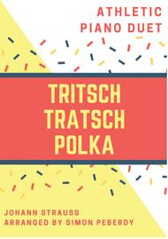 Tritsch Tratsch Polka by Johann Strauss, arranged as an unusual, athletic piano duet by Simon Peberdy