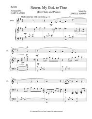 NEARER, MY GOD, TO THEE (Flute Piano and Flute Part)