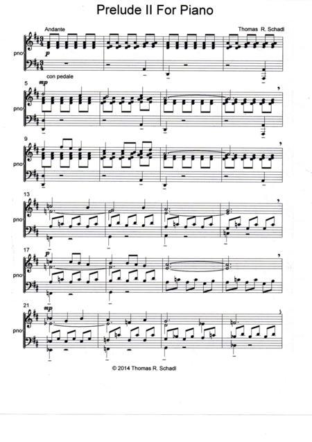 Prelude II For Piano