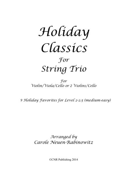 Holiday Classics for String Trio