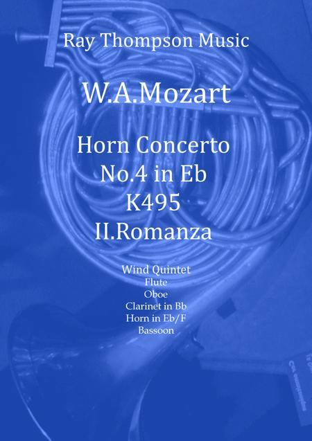 Mozart: Horn Concerto in Eb K495. Mvt. II Romanza (Romance) - wind quintet (featuring horn)