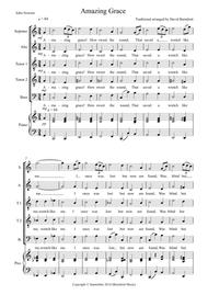 Amazing Grace for Choir (SATTB) and Optional Piano